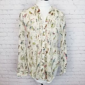 Anthropologie Maeve Pin Tuck Button Down